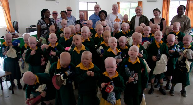 Children with albinism enrolled in the UTSS Education Scholarship Fund - Photo credit: UTTS