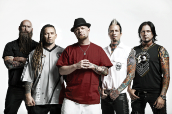 Five Finger Death Punch Guitarist Zoltan Bathory Second From Left Talked To Samaritanmag About The Reason And Importance Behind Bands Campaign