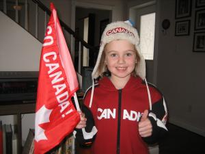 Eva attended the Vancouver Olympics as her wish