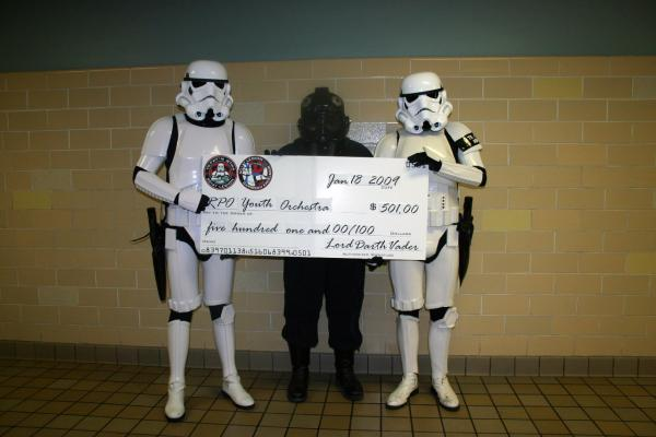Garrison Excelsior 2009 Rochester Youth Orchestra cheque presentation