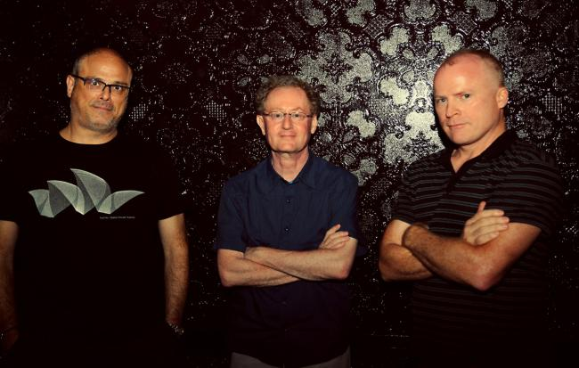 L-R - Red Hot + Rio 2 album producer Beco Dranoff, John Carlin (Red Hot Organization founder) and Paul Heck (Red Hot album serie