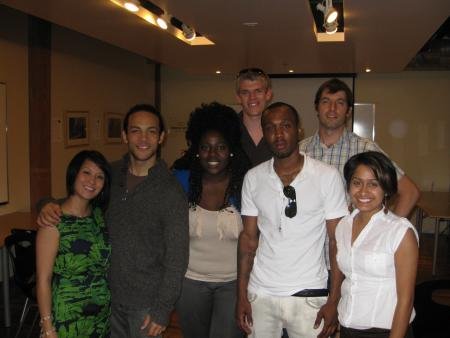 (L-R) Grace Poon, Nate Gerber, Dorothy Attakora, Ian Casterton (director of StartMeUp Ryerson), Donovan Brooks, Mike Brcic, and