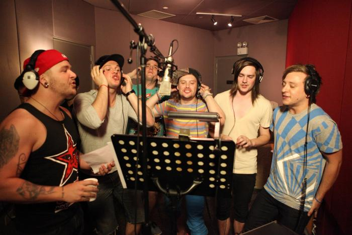 "Canada's These Kids Wear Crowns in a Singapore's Ocean Butterflies Studio record their part of Coldplay's ""Fix You"" to benefit t"