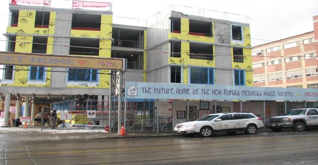 New Ronald McDonald house under construction, Toronto