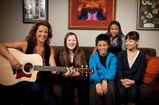 Sarah McLachlan and student from her School of Music