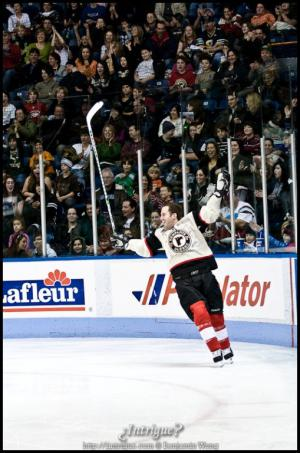 Chuck Comeau in Quebec Remparts's Hockey for Charity