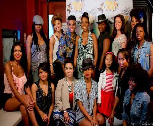 Ebonnie Rowe (top middle) with the Honey Jam 2012 finalists