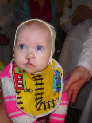 Face to Face-Baby with bib