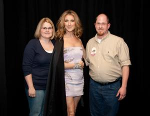 Kelly and Chad Spencer of the Kansas City with Celine Dion — photo credit: CDA World Inc.