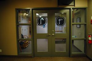 The front doors to The Remix Project
