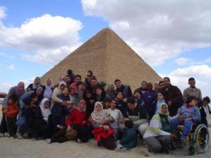 Parents and Children from the Egypt chapter of A Day Away — photo credit: YDA
